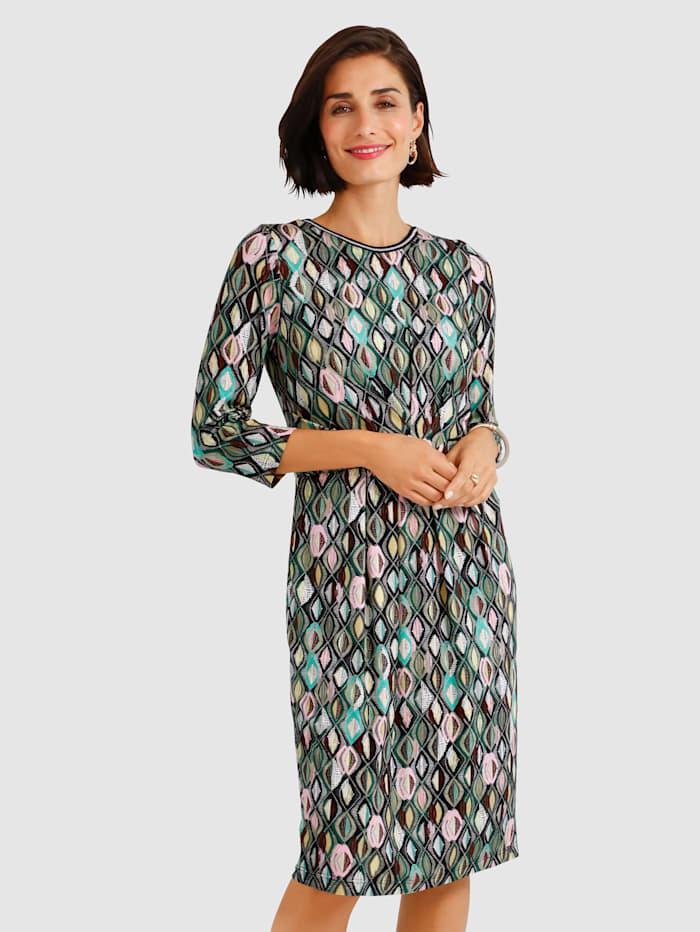 Jerseykleid mit grafischem Druck