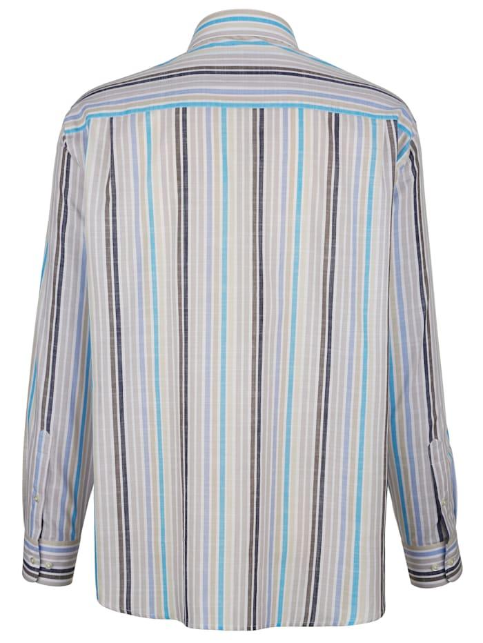 Chemise à motif rayé tissé-teint
