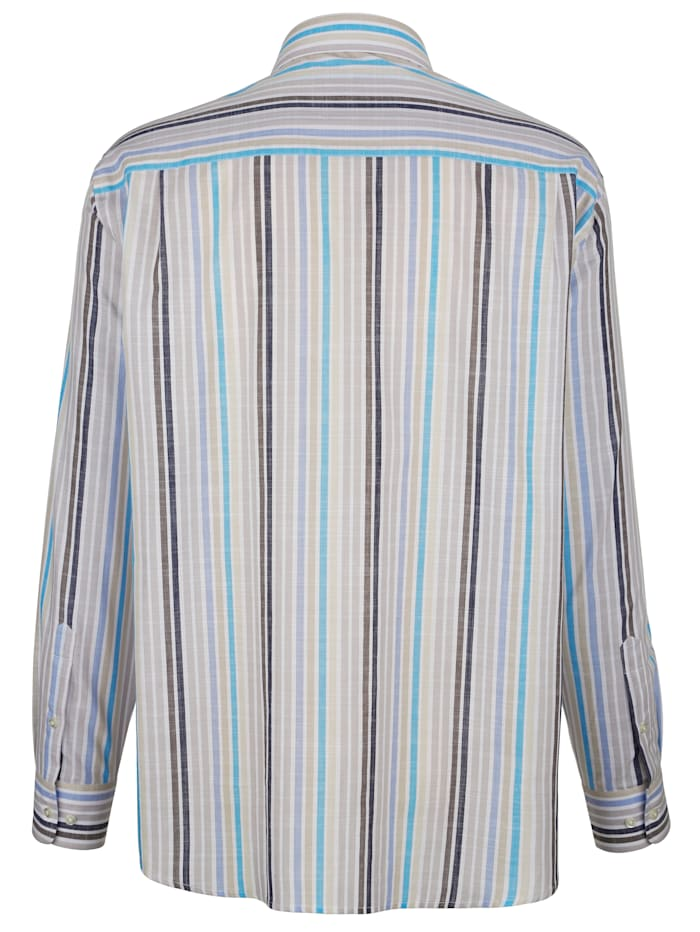 Skjorta med vävt randmönster