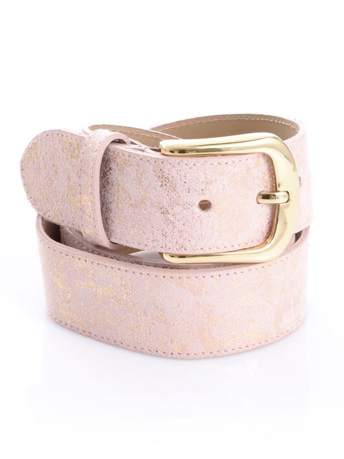 Alba Moda Gürtel mit Glanzeffekt, rosa