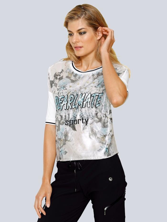 Oversized-Shirt mit frontalem Blumenprint