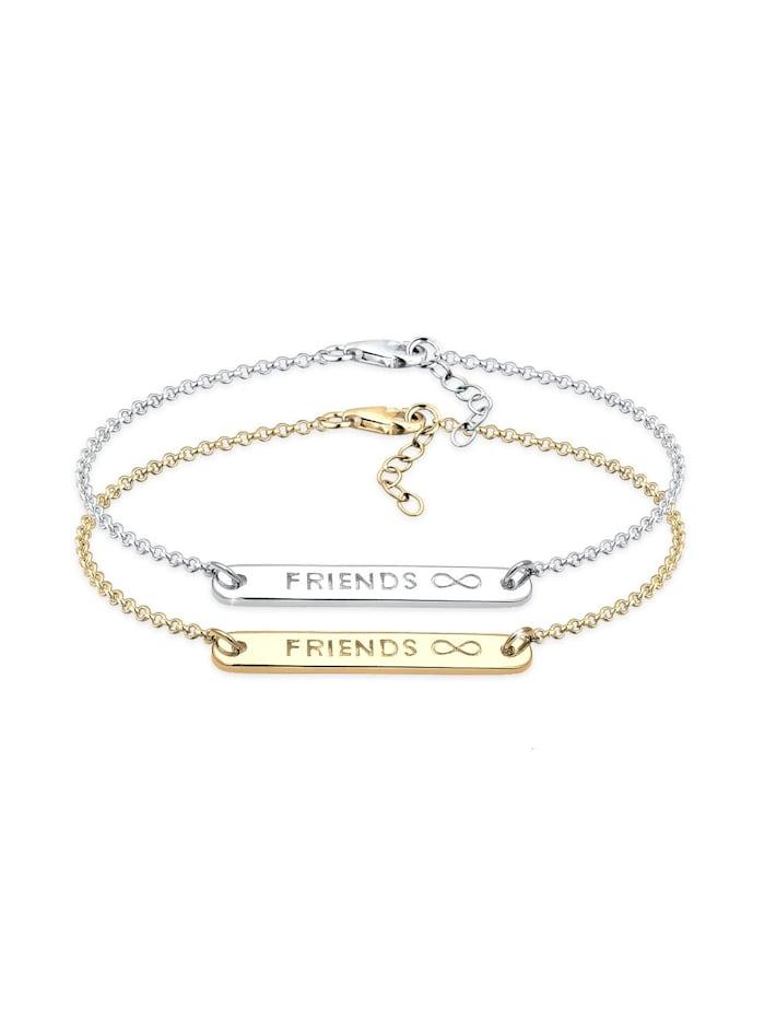 Elli Armband Infinity Freundschaft Set Bi-Color Silber, Silber