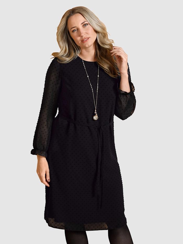MIAMODA Kleid aus strukturierter Qualität, Schwarz