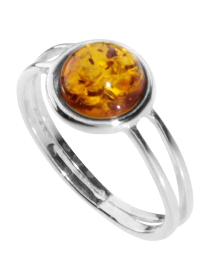 OSTSEE-SCHMUCK Ring - Almut - Silber 925/000 - Bernstein, silber