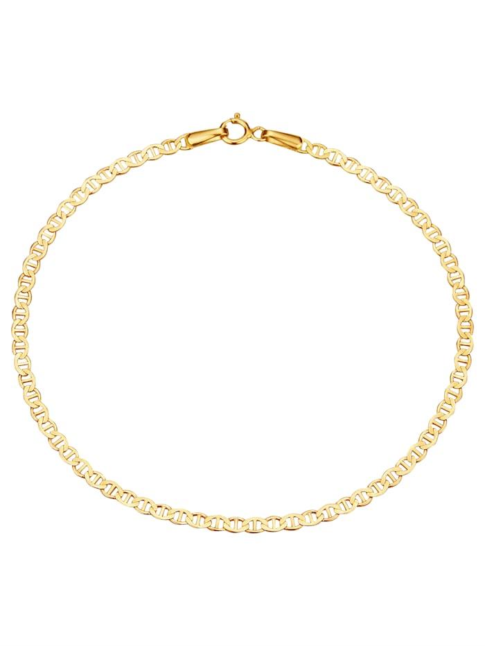 Stegankerarmband in Gelbgold