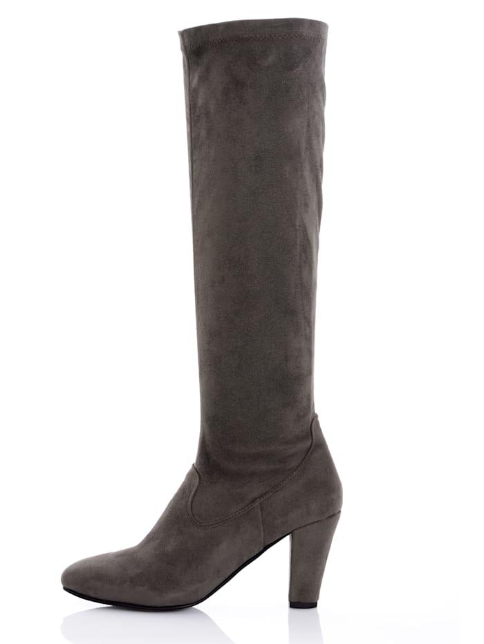 Stiefel aus elastischem Microsuede
