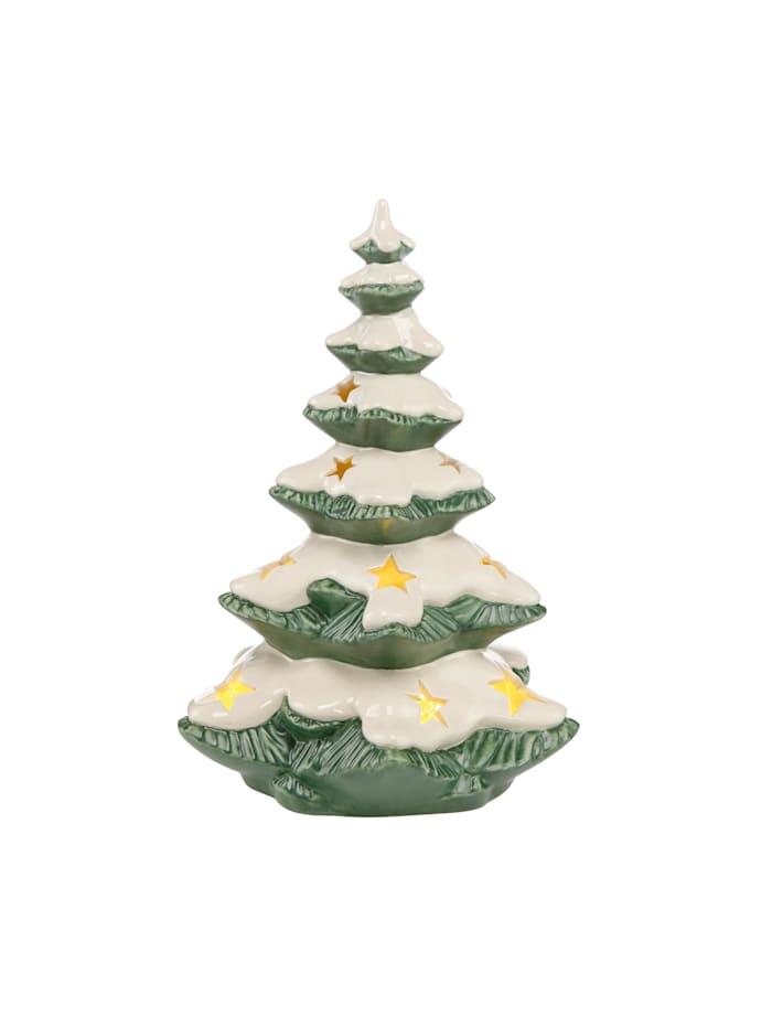 Goebel Figur Verschneiter Tannenbaum, grün