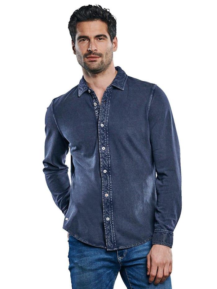 Engbers Innovatives Poloshirt, Indigoblau