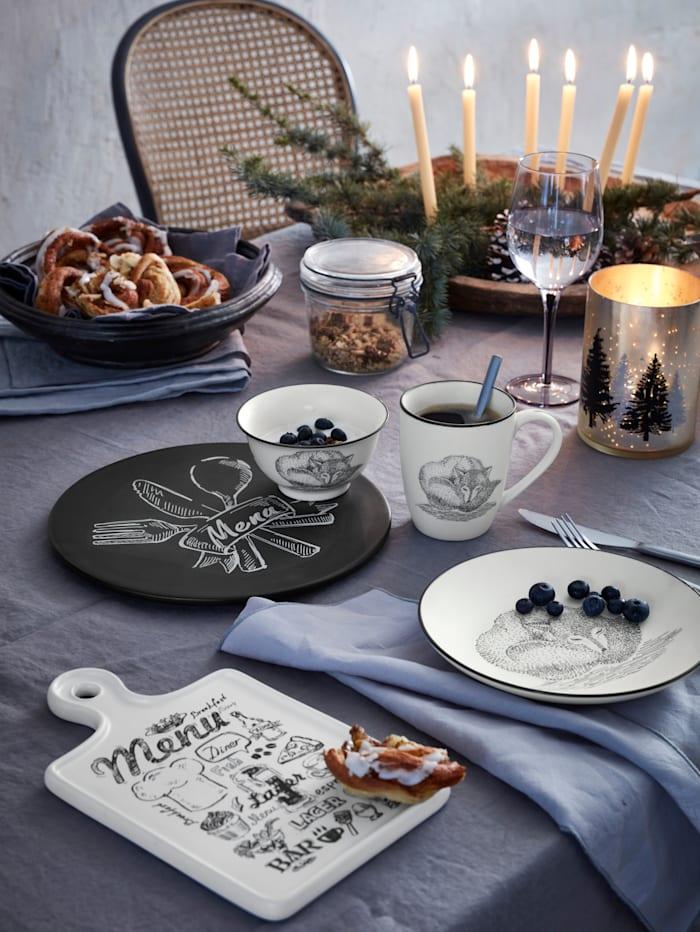 IMPRESSIONEN living Dessertteller-Set, 2-tlg., Fuchs, weiß
