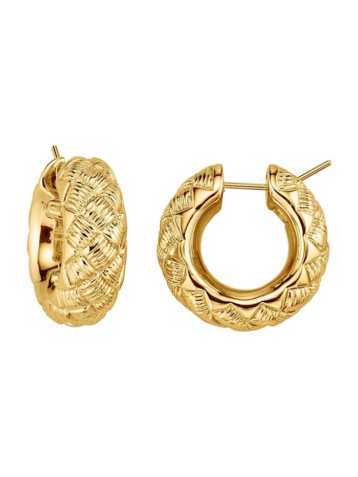Amara Gold Creolen in Gelbgold 750, Gelbgoldfarben
