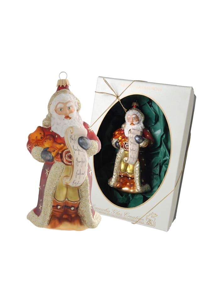 Krebs Glas Lauscha Christbaumschmuck 'Viktorianischer Santa', Multicolor