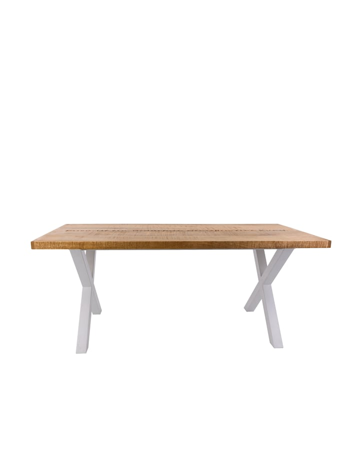IMPRESSIONEN living Table de salle à manger, Naturel/blanc