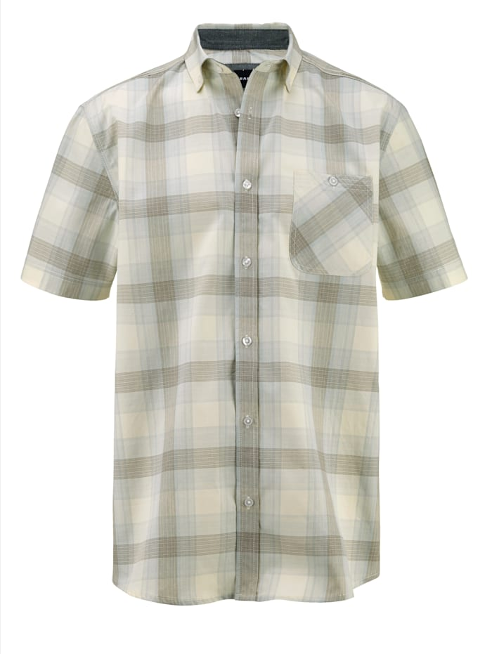 BABISTA Overhemd van zuiver katoen, Beige/Blauw