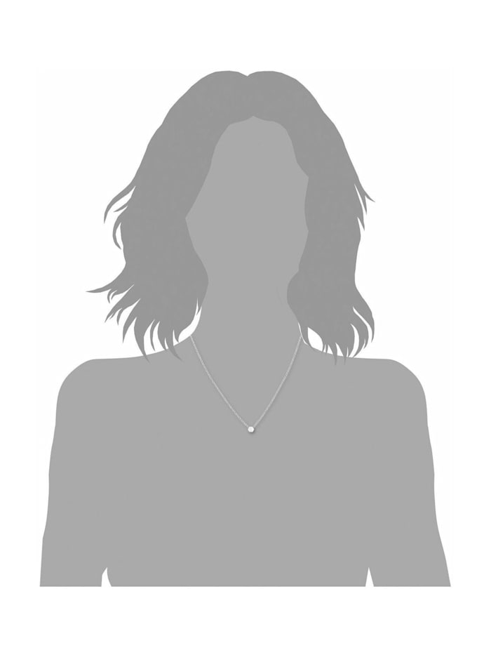 Kette mit Anhänger für Damen, 925er Sterling Silber rhodiniert