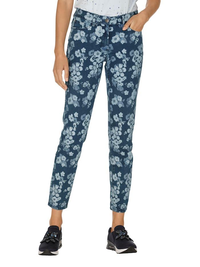 AMY VERMONT Jeans im Allover-Druck, Dark blue/Light blue