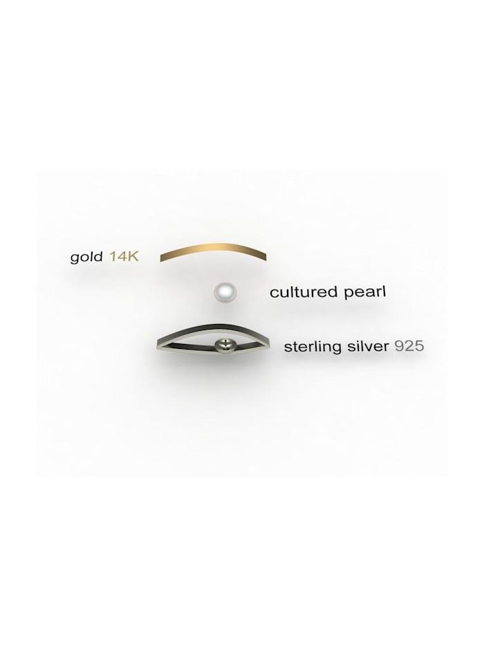 Kette mit Anhänger - Gleiter-Sunny Exklusiv - Silber 925/000 & Gold 585/000 - Zuchtperle
