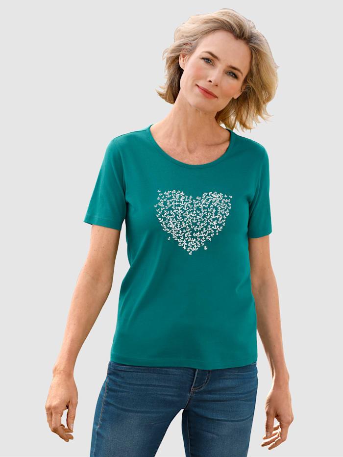 Dress In Shirt mit Ankerdruck, Smaragd