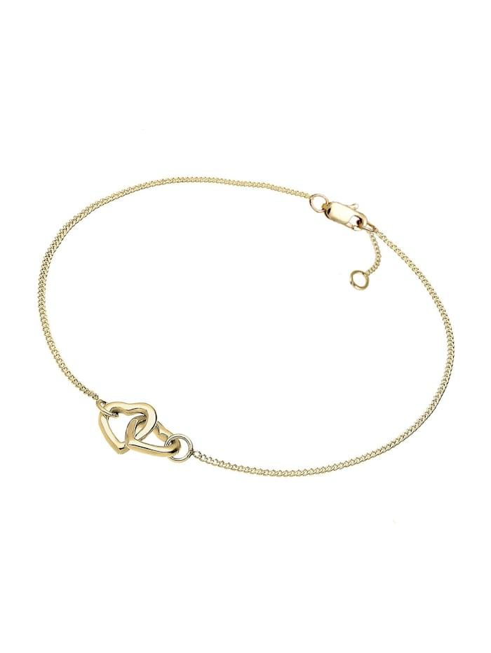Armband Herz 375 Gelbgold