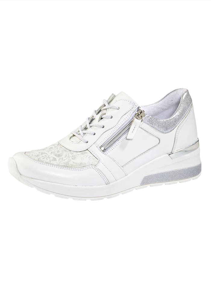 Waldläufer Lace-up shoes with zip detail, White