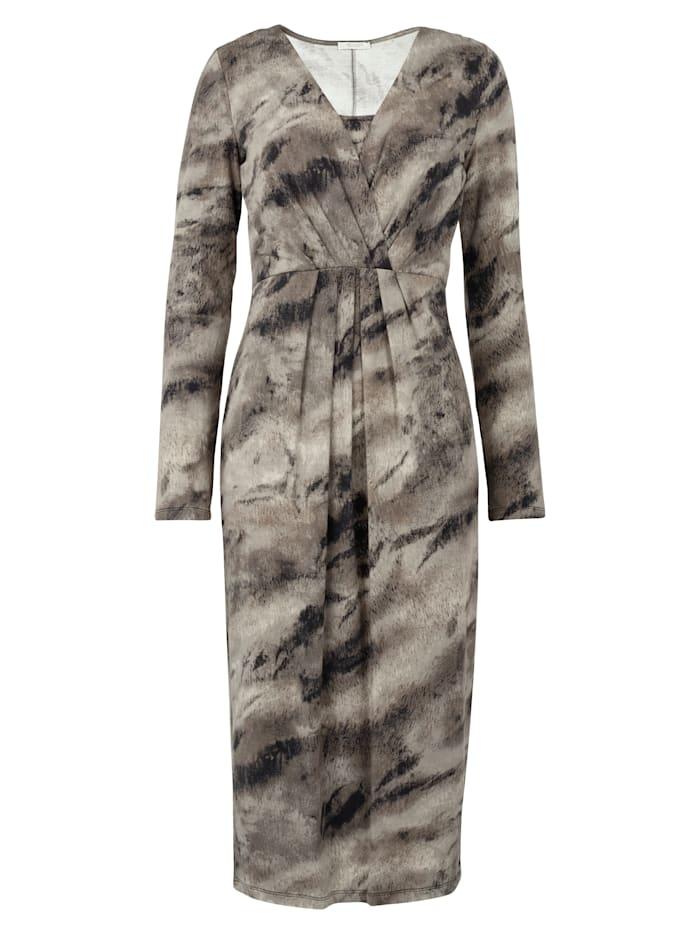 Robe en jersey à imprimé abstrait devant et dos