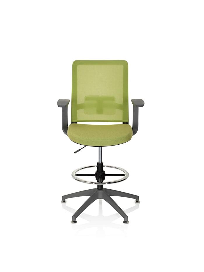 hjh OFFICE Arbeitsstuhl Arbeitshocker PURE WORK GREY, Grün