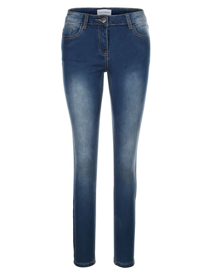 AMY VERMONT Jeans mit dezenter Waschung, Dark blue