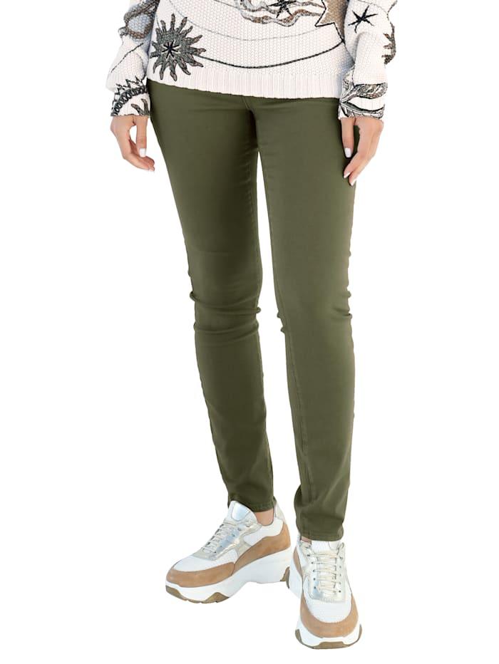 NYDJ Jeans met shaping effect, Olijf