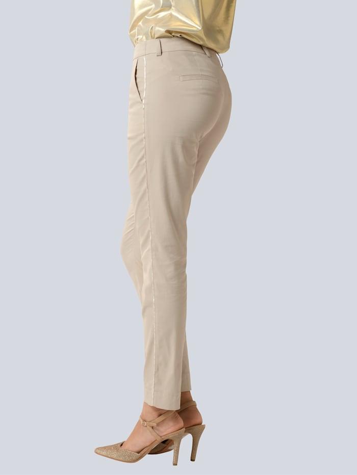 Hose mit modischer Paspel in leichtem Glanz