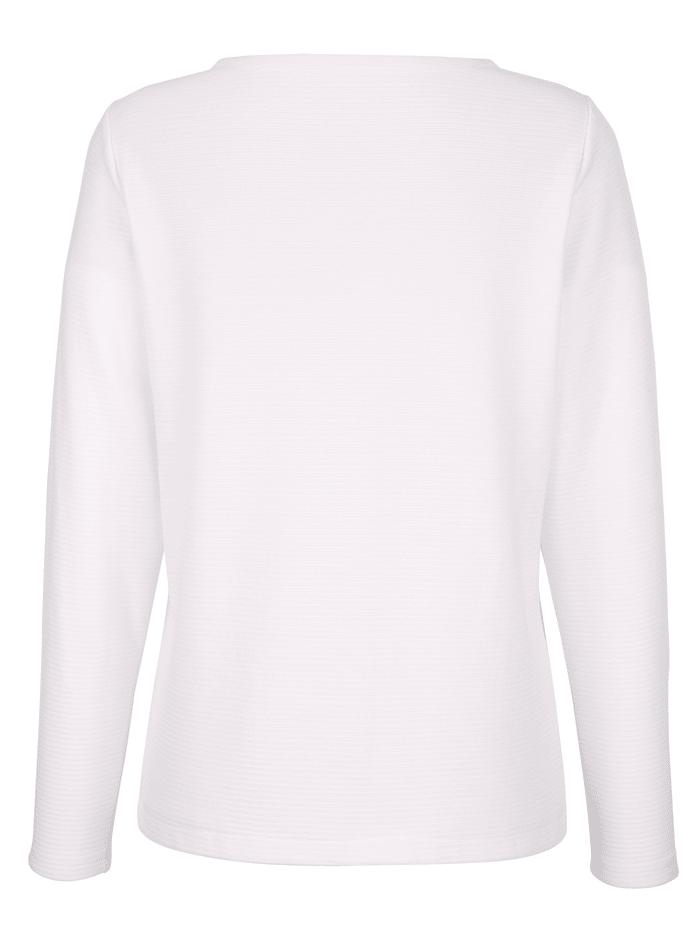 Sweatshirt in Struktur Qualität