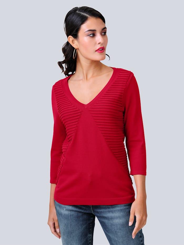 Pullover mit Streifen-Struktur