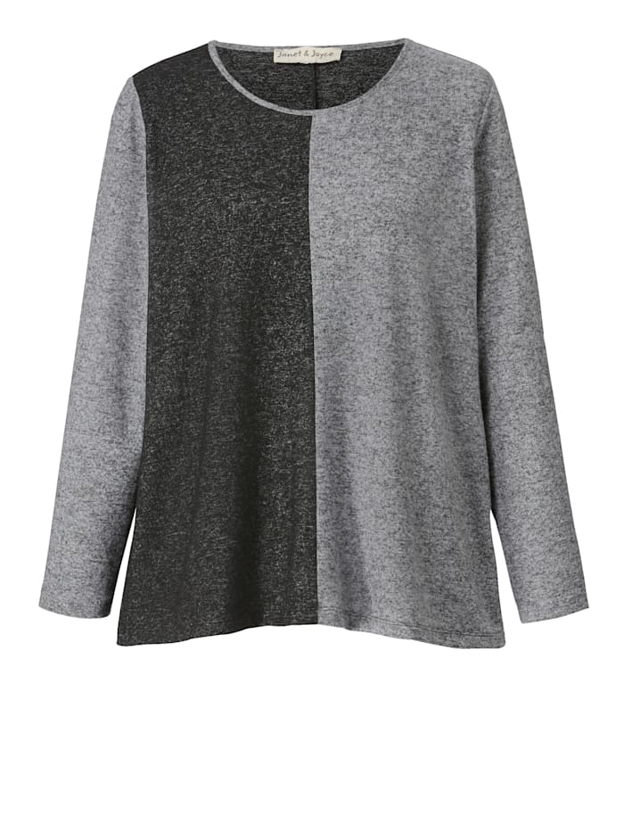 Shirt in Leichtstrickoptik, gepatcht