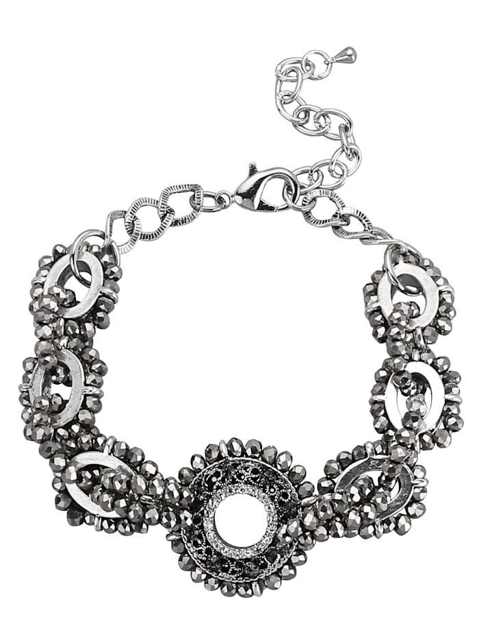 Love Inspiration Armband mit Glaskugeln, Grau