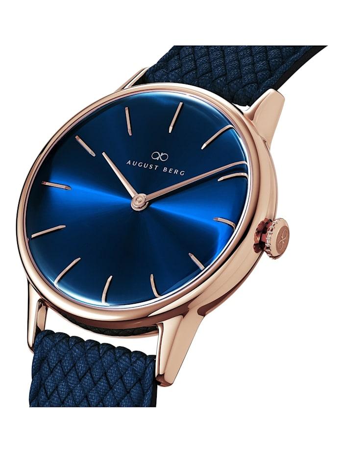 Uhr Serenity Deep Blue Blue Perlon 32mm