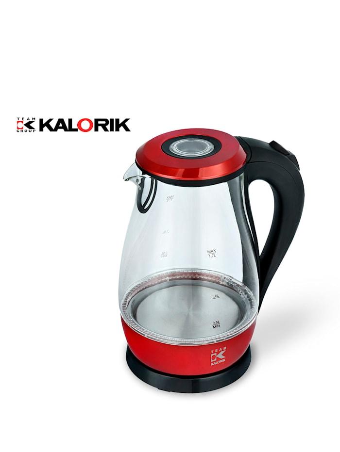 Kalorik Wasserkocher aus Glas, Rot