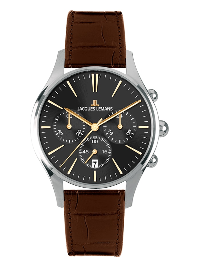 Jacques Lemans Pánský chronograf serie Capri Kollektion Sport 1-1606ZB, Hnědá
