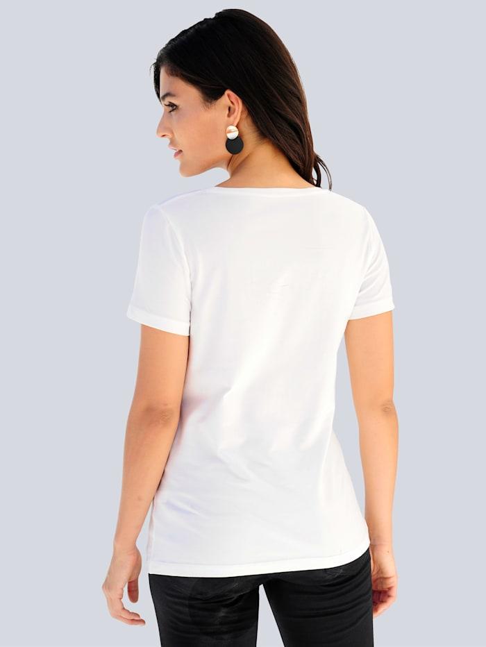 Shirt mit Metallic-Print im Vorderteil