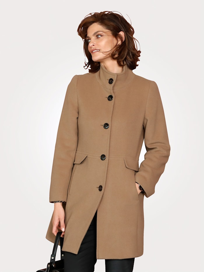 Longline jacket in a wool-blend fabric