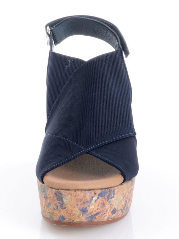 Sandalette mit Muster auf dem Absatz
