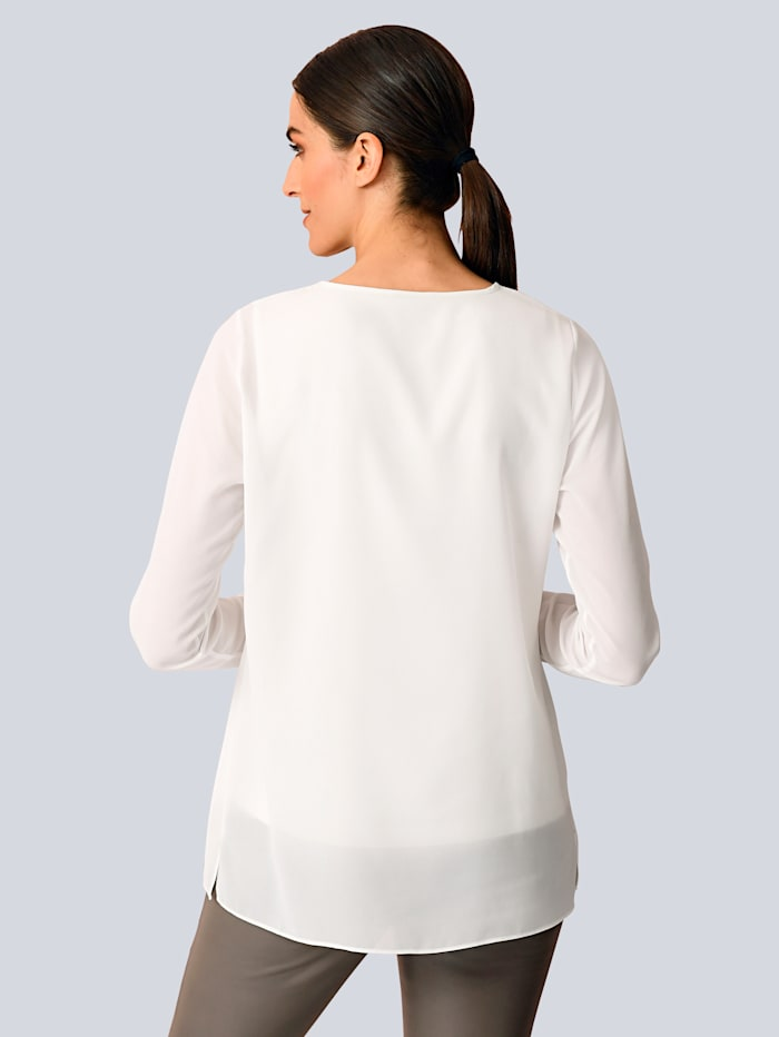 Bluse mit elegantem Strassdetail
