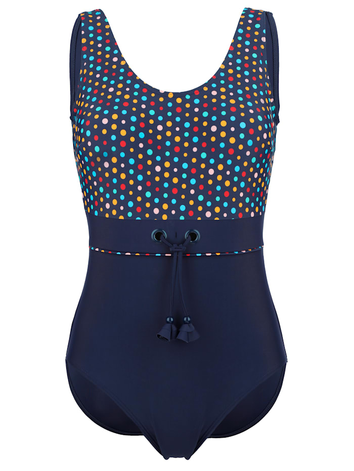 Maritim Swimsuit with lace-up detail, Navy