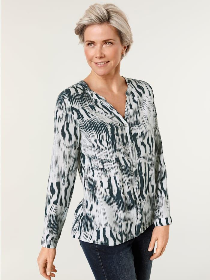Bluse mit abstraktem Zebradruck