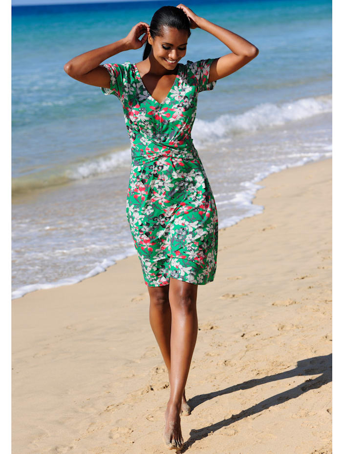 Strandkleid mit Blumendruck