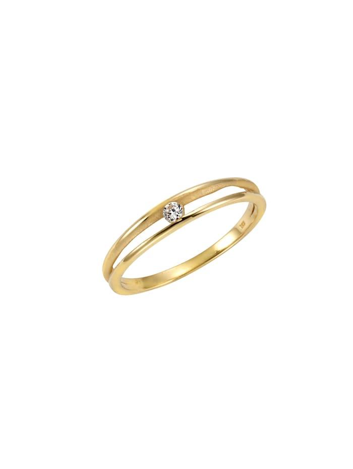 Celesta Ring 375/- Gold Zirkonia weiß Matt/Glanz 375/- Gold, gelb