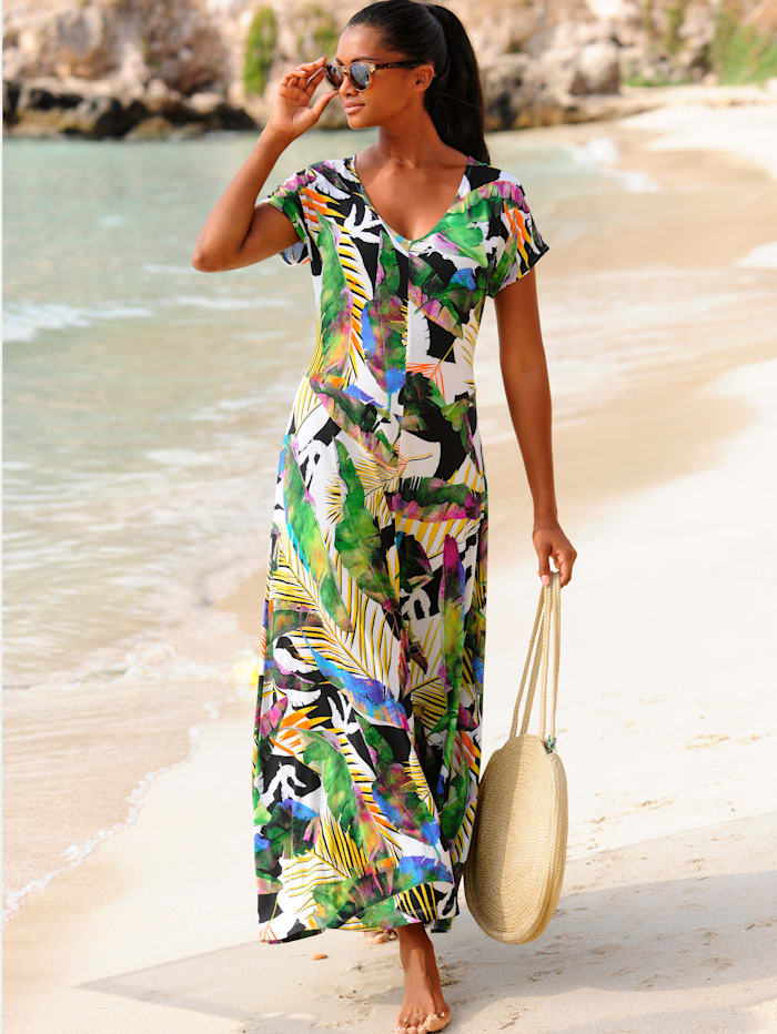 Strandkleid mit buntem Druck