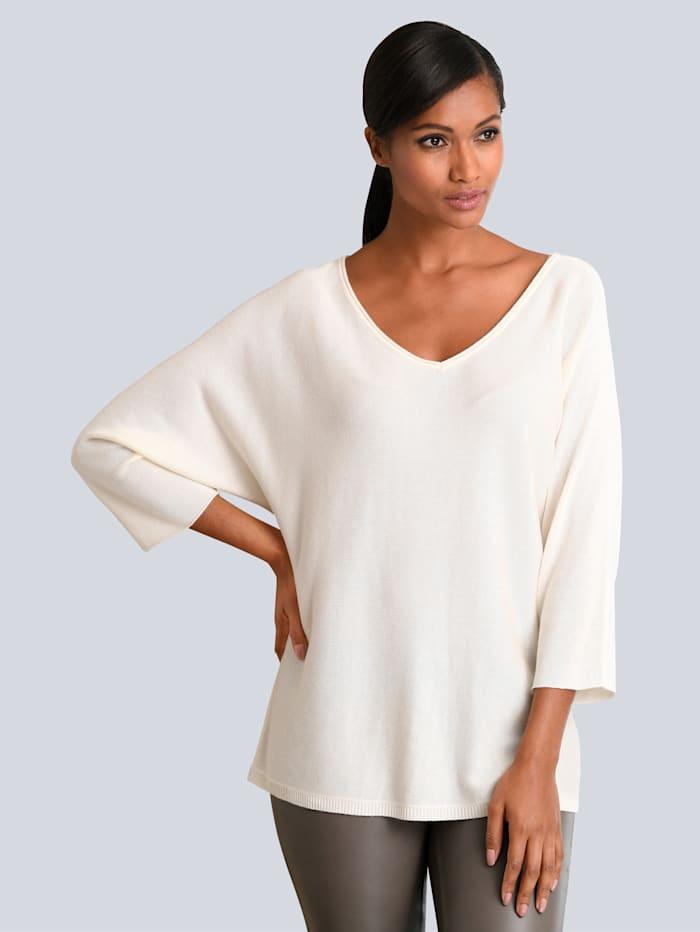 Alba Moda Pullover in softer Qualität, Creme-Weiß