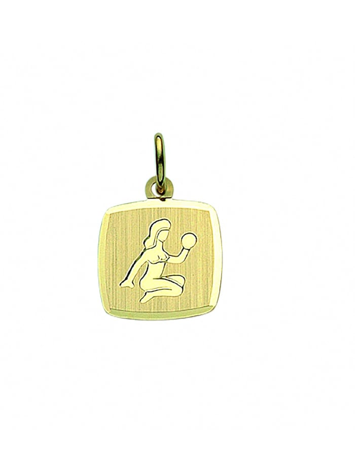 1001 Diamonds Damen & Herren Goldschmuck 333 Gold Sternzeichen Anhänger Jungfrau, gold