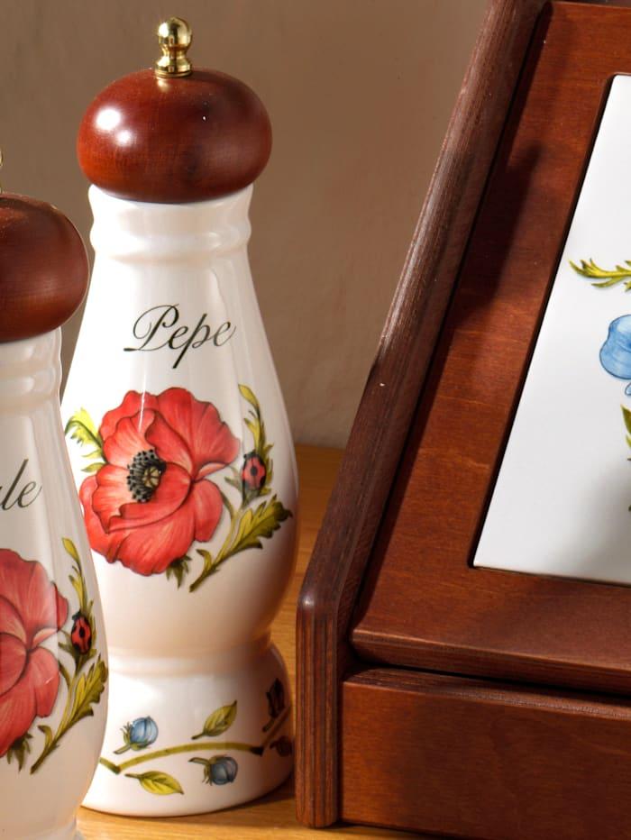 "Nuova Ceramica Artisan Nostalgische Pfeffermühle""Giardino Botanico"", mehrfarbig"