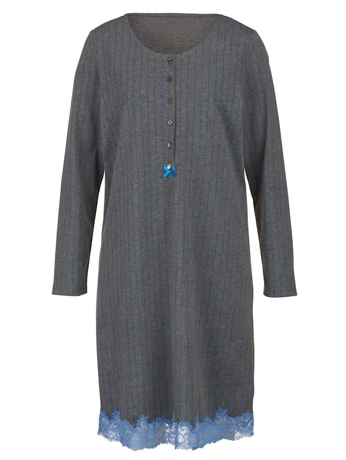 Nachthemd in klassieke krijtstreeplook