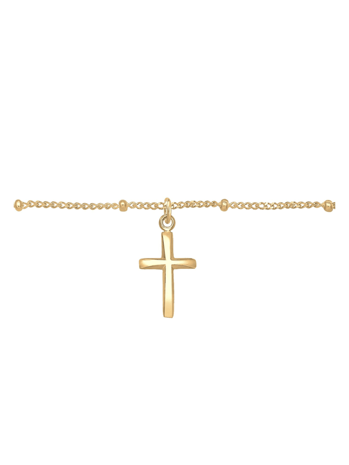 Halskette Basic Choker Kugelkette Kreuz Glaube 925 Silber