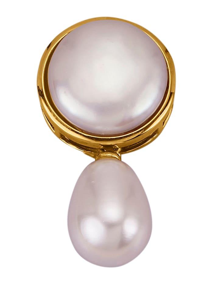 Amara Perles Pendentif avec perles de culture d'eau douce, Blanc